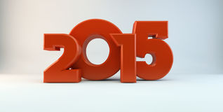 Year of 2015. Red 3d 2015 in studio Royalty Free Stock Photo