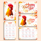 Year of red fiery cock Stock Photos