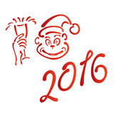 Year of the red monkey new year 2016. Year of the monkey new year 2016 Stock Images