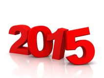 2015 year. Red 2015 year on a white background. 3d rendered image vector illustration