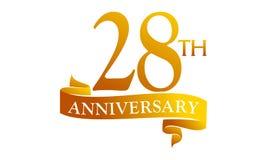 28 Year Ribbon Anniversary Royalty Free Stock Images