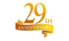 29 Year Ribbon Anniversary Royalty Free Stock Photos
