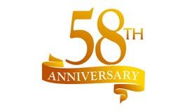58 Year Ribbon Anniversary Royalty Free Stock Photography