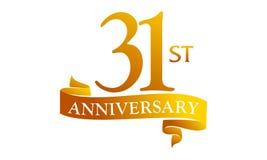 31 Year Ribbon Anniversary Stock Images