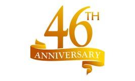 46 Year Ribbon Anniversary Royalty Free Stock Image