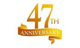 47 Year Ribbon Anniversary Stock Photos