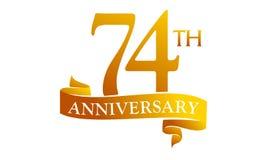 74 Year Ribbon Anniversary Royalty Free Stock Images