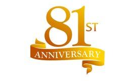 81 Year Ribbon Anniversary Stock Image