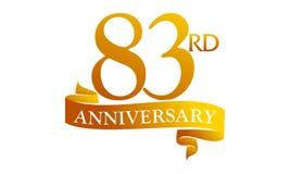 83 Year Ribbon Anniversary Stock Photography