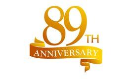 89 Year Ribbon Anniversary Royalty Free Stock Photos