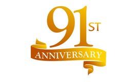 91 Year Ribbon Anniversary Royalty Free Stock Image
