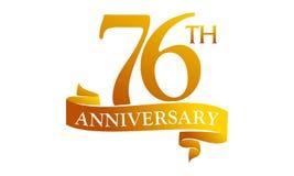 76 Year Ribbon Anniversary Royalty Free Stock Photos