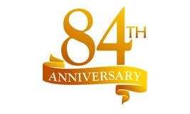 84 Year Ribbon Anniversary Stock Photography