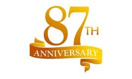 87 Year Ribbon Anniversary Royalty Free Stock Image