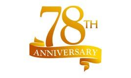 78 Year Ribbon Anniversary Stock Photography