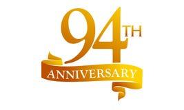94 Year Ribbon Anniversary Stock Photo