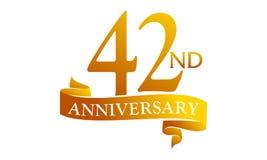 42 Year Ribbon Anniversary Royalty Free Stock Image