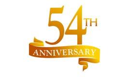 54 Year Ribbon Anniversary Royalty Free Stock Images