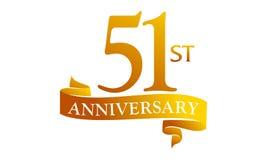 51 Year Ribbon Anniversary Stock Images