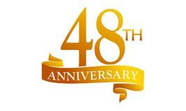 48 Year Ribbon Anniversary Royalty Free Stock Photography