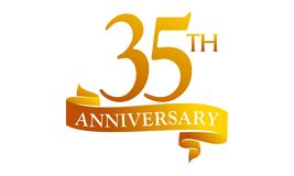 35 Year Ribbon Anniversary Royalty Free Stock Photo