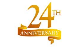 24 Year Ribbon Anniversary Stock Image
