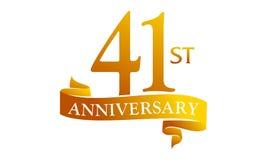 41 Year Ribbon Anniversary Stock Photography