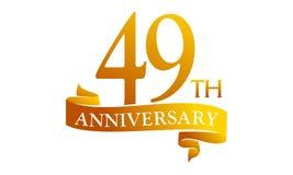 49 Year Ribbon Anniversary Stock Photos