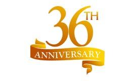 36 Year Ribbon Anniversary Royalty Free Stock Images