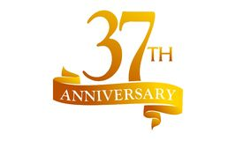 37 Year Ribbon Anniversary Royalty Free Stock Photos