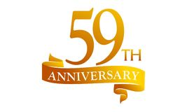 59 Year Ribbon Anniversary Stock Photos