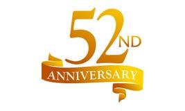 52 Year Ribbon Anniversary Stock Photos