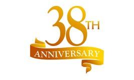 38 Year Ribbon Anniversary Stock Photography