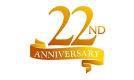 22 Year Ribbon Anniversary Royalty Free Stock Image
