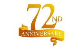 72 Year Ribbon Anniversary Stock Images