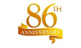 86 Year Ribbon Anniversary Stock Photos