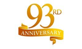 93 Year Ribbon Anniversary Royalty Free Stock Image