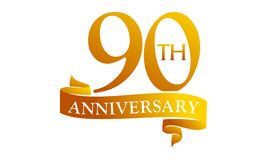 90 Year Ribbon Anniversary Royalty Free Stock Photo