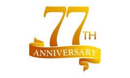 77 Year Ribbon Anniversary Royalty Free Stock Image