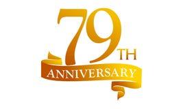 79 Year Ribbon Anniversary Stock Photo