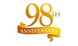 98 Year Ribbon Anniversary Stock Photos