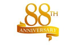 88 Year Ribbon Anniversary Stock Photo