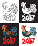 Year of rooster bird Stock Photography