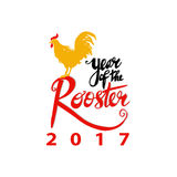 Year of Rooster 2017 Royalty Free Stock Photography