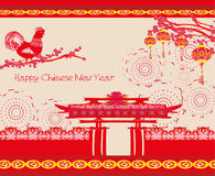 Year of rooster design Stock Photography