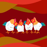2017 year of the rooster. Great for your design Royalty Free Stock Image