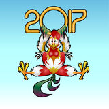 2017- Year of the Rooster. Year of the Rooster 2017 - happy New Year royalty free illustration