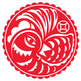 Year of the Rooster illustration Royalty Free Stock Photos