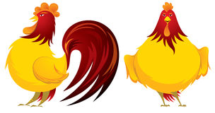 Year of the Rooster illustration Royalty Free Stock Photography