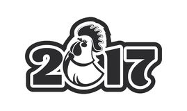 Year of the rooster logo Stock Images